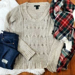 Calvin Klein Jeans Chunky Open Knit Sweater SZ M